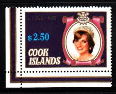 Cook Islands MNH Scott #678b $2.50 Princess Diana - Cook