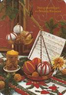 New Year Bonne Annee Gelukkig Nieuwjaar Christmas Fantasy Ornaments Seasonal Postcard - Nieuwjaar