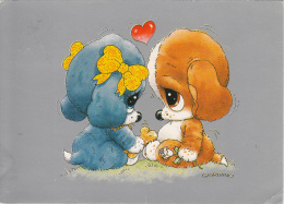 Artist Giordano Dogs In Love Fantasy Cute Puppies Caricature - Illustrateurs & Photographes