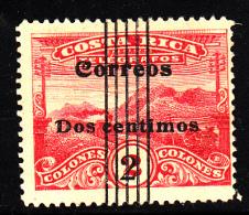 Costa Rica Used Scott #97d 2c On 2col Telegraph Stamp, Perf 14 - Remainder Cancel - Costa Rica
