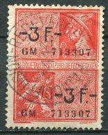 BELGIQUE - Taxe Fiscale  3 Francs - Annulation Du Service De Redevance Radio-Diffusion - Revenue Stamps