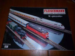 CB8 Catalogue Fleischmann N Piccolo 1993/94  -  Train Wagon Modélisme - 100pages - Sncb - Livres Et Magazines