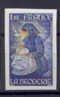 FRANCE Non Dentelé (imperforate) - N° 2079  Métiers D'Art. La Broderie D'après Une œuvre De Toffoli. - France