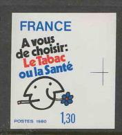 FRANCE Non Dentelé (imperforate) - N° 2080  Lutte Contre Le Tabagisme. Tabac - France