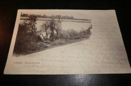 CPA 03 GANNAT. Pont De Neuviale. Carte Animée. Train...avril 1901. - France