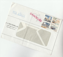 Air Mail PORTUGAL COVER Stamps 10, 5, 1.50, 0.50  With 'T 10/27' 'CANCELLED'  Underpaid - Covers & Documents