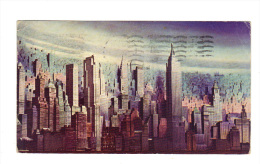 Etats Unis: New York, A Penciled Radiance Etches A Golden Pattern On The Mist (15-3885) - Multi-vues, Vues Panoramiques