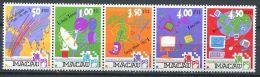 154 MACAO 1999 - Communication Satellite Radio TV (Yvert 950/54) Neuf ** (MNH) Sans Trace De Charniere - 1999-... Région Administrative Chinoise
