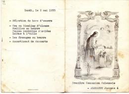 Menus Sur Deux Jours Pour Une Communion Solennele - Albrecht  Jacques - Menus