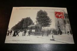CPA 94 KREMLIN BICETRE. Route Fontainebleau Station Tyramways. Carte Animée. 05-03-1903. - Kremlin Bicetre