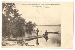 S3867 -  En Pirogue Sur La Lagune - Mission Africaine Lyon Vicariat Apostolique De La Côte D´ Ivoire - Côte-d'Ivoire