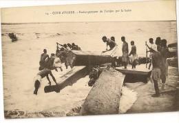 S3870 - Embarquement De L'acajou Par La Barre - Côte-d'Ivoire