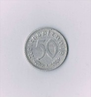 50 Reichspfennig 1940 A  - Svastika - [ 4] 1933-1945 : Troisième Reich