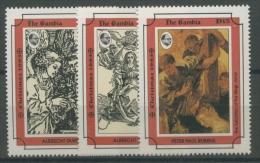 Gambia 1993 Weihnachten, Albrecht Dürer 1784/86 Postfrisch - Gambia (1965-...)