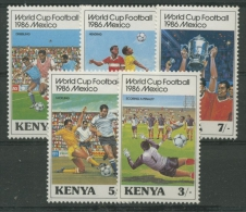 Kenia 1986 Fußballweltmeisterschaft Mexiko 360/4 Postfrisch - Kenya (1963-...)