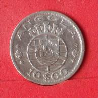 ANGOLA  10  ESCUDOS  1955  5 GRS - 0,720 SILVER KM# 73  -    (Nº12875) - Angola