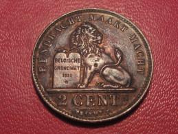 7873 Belgium - Belgique - 2 Centimes 1919, Der Belgen - 1909-1934: Albert I