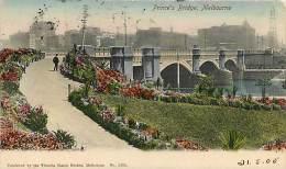 MELBOURNE. PRINCE'S BRIDGE AGLI INIZI DEL '900. BELLA CARTOLINA DEL 1905 - Melbourne