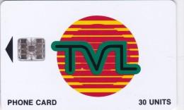 Vanuatu, VAN-T-14b, Tvl Logo 30, Cm: Sc7,  Red Batch Number, 2 Scans. - Vanuatu
