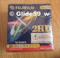 Boîte Neuve De 10 Disquettes PC - MF2HD Fujifilm - 1,44 MB Formatted - 3.5 Disks