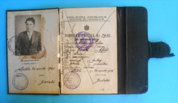 KINGDOM OF YUGOSLAVIA Old SEAMAN´S BOOK (1936.) Seamans Passport Livret Professionnel Maritime Libretto Di Navigazione - Non Classés