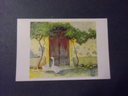 Atmosphère Campagnarde  )   Carte Double (oies Devant La Porte   ) 2 Scans - Schilderijen