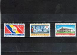 1977 - 30 Anniv. De La Republique Yv No 3085/3087 Et Mi No 3481/3483 - 1948-.... Republics