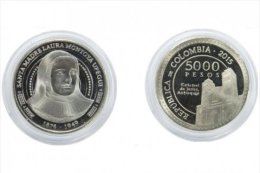 Lote 402, Colombia, 2015, Moneda, Coin, Santa Madre Laura, Saint, Jerico, Church - Colombia