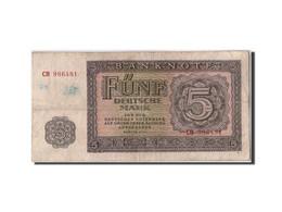 République Démocratique Allemande, 5 Deutsche Mark, 1955, KM:17, Non Daté - 5 Deutsche Mark