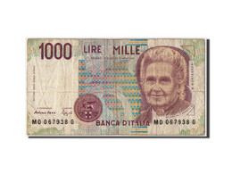 Italie, 1000 Lire, D.1990, KM:114b, Non Daté, B+ - [ 2] 1946-… : République