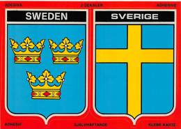 SUEDE CARTE AUTOCOLLANTE SWEDEN SVERIGE - Suède