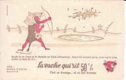 2 Buvards LA VACHE QUI RIT  Série TRAVAUX D' HERCULE   ( Paul Grimault  ) Port Gratuit - Blotters