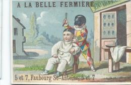 Magasin. A La Belle Fermiére/Pierrot Et Barbier/Grégoire Brisset/Fbg St Antoine /Paris /Romanet / Vers 1885   IMA40 - Trade Cards