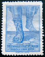 ITALY 1940 Napoli Naples Triennale Label Mint No Gum - 5. 1944-46 Lieutenance & Umberto II