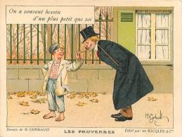 CARTE PUBLICITE RICQLES  ILLSTREE PAR GERBAULT LES PROVERBES - Pubblicitari
