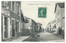CHAMPIER (Isère) - La Route De Lyon - Animée - Poste Télégraphe Téléphone - Caisse Nationale D'Épargne - France