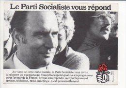 Polique,évenement - Carte Réponse Pour Le Parti Socialiste - François Mittérand - Evènements