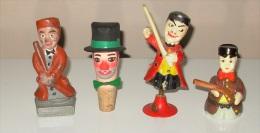 Lot De 4 Figurines Marionnettes Guignol Gnafron De Lyon Théâtre Collection :: Bouchon - Plomb - Porcelaine - Bakélite - Marionnettes
