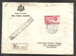 San Marino 1961 Busta Primo Giorno Elicottero P.A. N°138 Cod.busta.012 - San Marino