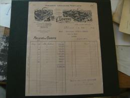 1923  Facture Decoree  Paris Rue Folie Mericourt Louyot Fonderie Laminoir Usine Paris Et Bornel Oise - France