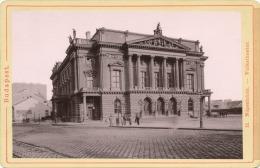 Budapest. Népszinhaz - Volkstheater. Verlag V. Rommler & Jonas K.S. Hof-Photogr. 1888 (?) - Foto