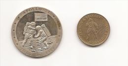 Medalla Espacio Apollo XI Y Voskhod2 - Fichas Y Medallas