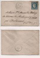 Enveloppe Adressée De PARIS A VILLETTE Par CHALAMONT (Ain)  - Cachet Sur Yvert 37  (82851) - 1870 Emissione Di Bordeaux