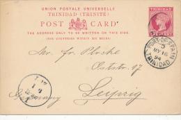 PORT OF SPAIN / Trinidad - 1894 ,  Post Card - Trinidad & Tobago (1962-...)