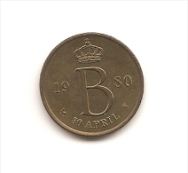 Medalla Belgica 30 Abril 1980 - Bélgica