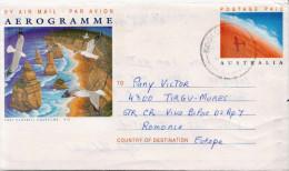 Postal History Cover: Australia Postal Stationery Aerogramme With Birds - Birds