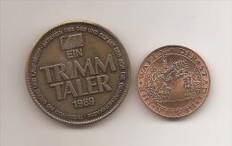 Medalla - Token - Jeton - Trimm Taler 1989 - Berlin 1987 - Alemania