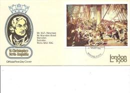 Napoléon -Nelson -Trafalgar ( FDC De Saint-Christophe De 1980 Avec BF à Voir) - Napoléon