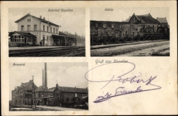 Cp Kapellen Grevenbroich Im Rheinkreis Neuss, Brauerei, Bahnhof, Mühle - Duitsland