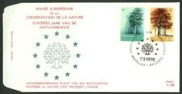 Belgien 1970  FDC 1583-1584 - Ideas Europeas